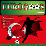 Euro die Türkei 2008 Lizenzfreie Stockbilder