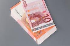 Euro dieci Fotografia Stock Libera da Diritti