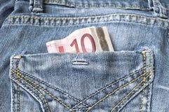 Euro diez Foto de archivo libre de regalías