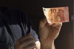 Euro diez Imagen de archivo libre de regalías