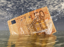 Euro. Digital composition of a euro note Royalty Free Stock Image