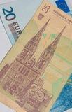 Euro - dinar fotos de archivo libres de regalías