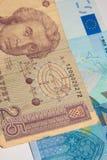 Euro - dinar Images stock