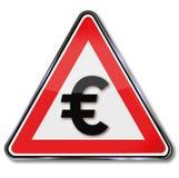 Euro, dinero y moneda Foto de archivo libre de regalías