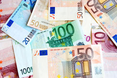 Euro- dinheiro Fotos de Stock Royalty Free
