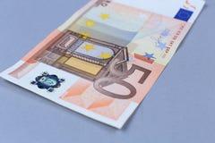 Euro- dinheiro em um fundo branco Foto de Stock Royalty Free