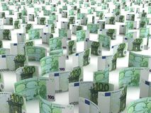 Euro dispersado Fotos de Stock Royalty Free