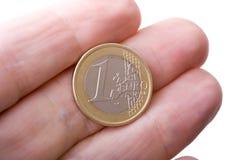 Euro a disposizione Fotografie Stock Libere da Diritti