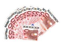 euro dix de billets de banque Image libre de droits