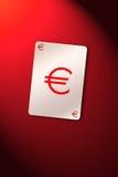 Euro do cartão de jogo Fotografia de Stock