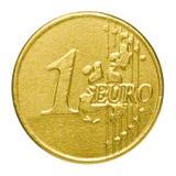 Euro do chocolate em um envoltório Fotos de Stock