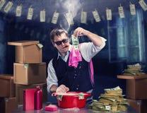 euro do czyszczenia pierze forsę do mycia Zdjęcia Royalty Free