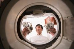 euro do czyszczenia pierze forsę do mycia Obraz Stock