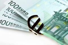 Euro do dinheiro Fotografia de Stock
