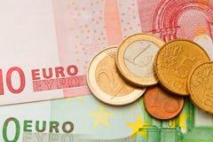 Euro do dinheiro Imagem de Stock