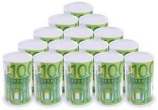 Euro do estanho (possa) fotografia de stock royalty free