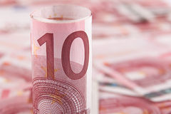 Euro do fundo 10 Fotos de Stock