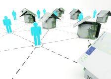 Euro do mercado imobiliário Fotografia de Stock
