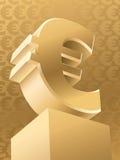 Euro do ouro Ilustração do Vetor