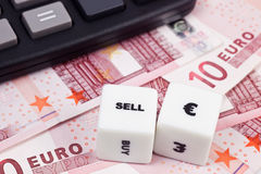 Euro do Sell imagens de stock royalty free