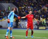 EURO do UEFA 2016 Espanhas de qualificação de Ucrânia v do jogo Imagem de Stock