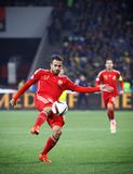 EURO do UEFA 2016 Espanhas de qualificação de Ucrânia v do jogo Foto de Stock Royalty Free