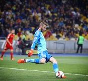 EURO do UEFA 2016 Espanhas de qualificação de Ucrânia v do jogo Fotografia de Stock Royalty Free