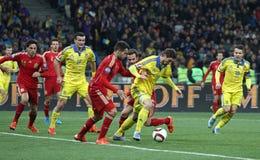 EURO do UEFA 2016 Espanhas de qualificação de Ucrânia v do jogo Fotos de Stock