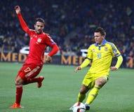 EURO do UEFA 2016 Espanhas de qualificação de Ucrânia v do jogo Imagens de Stock Royalty Free