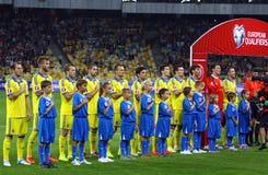 EURO do UEFA 2016 jogos de qualificação Ucrânia contra Eslováquia Foto de Stock Royalty Free