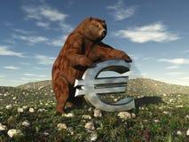 Euro do urso Imagens de Stock