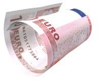 Euro doblado Imagen de archivo libre de regalías