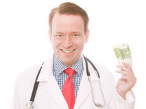 100 euro doctor Stock Photography