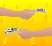 euro dolarów Obraz Royalty Free