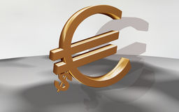 Euro with dollar Royalty Free Stock Images