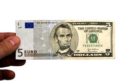Euro/Dollar Royalty Free Stock Images