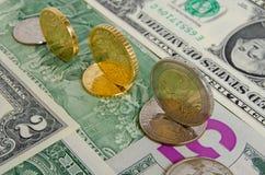Euro-dollar Arkivfoto