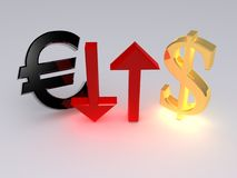 Euro-dollar Stock Photography
