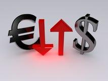 Euro-dollar Stock Photography