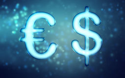 Euro and Dollar Royalty Free Stock Images