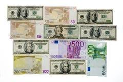 Euro-dollar  background Stock Photo