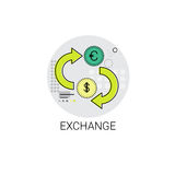 Euro Dollar Coin Money Exchange Finance Icon. Vector Illustration Stock Images