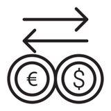 Euro Dollar Converter Stock Photo