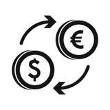 Euro dollar euro exchange icon, simple style Royalty Free Stock Photos