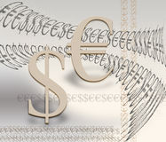 Euro and dollar. Financial symbols of the euro and the dollar as a concept Royalty Free Stock Photos