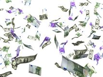 Euro dollar Money stock illustration