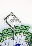 Euro And Dollar Money Royalty Free Stock Photography