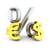 Dollar to euro exchange rate Royalty Free Stock Photo