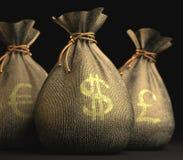 Euro Dollar Pound Royalty Free Stock Photo