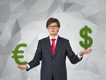 Euro and dollar sign Royalty Free Stock Photo